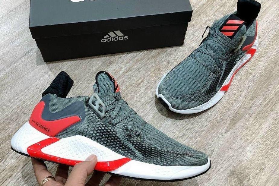 Giày Alphabounce Xám Đỏ rep 1:1 có form giày chuẩn xác, đứng dáng