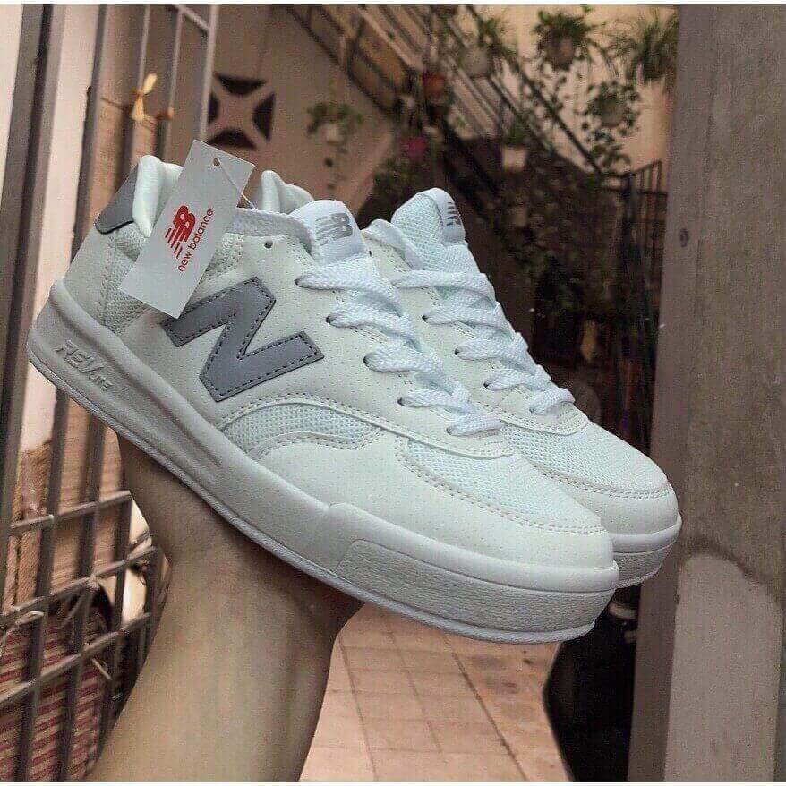 Giày New Balance Xám rep 1:1 có hình ảnh chữ N quen thuộc ở hai bên má giày