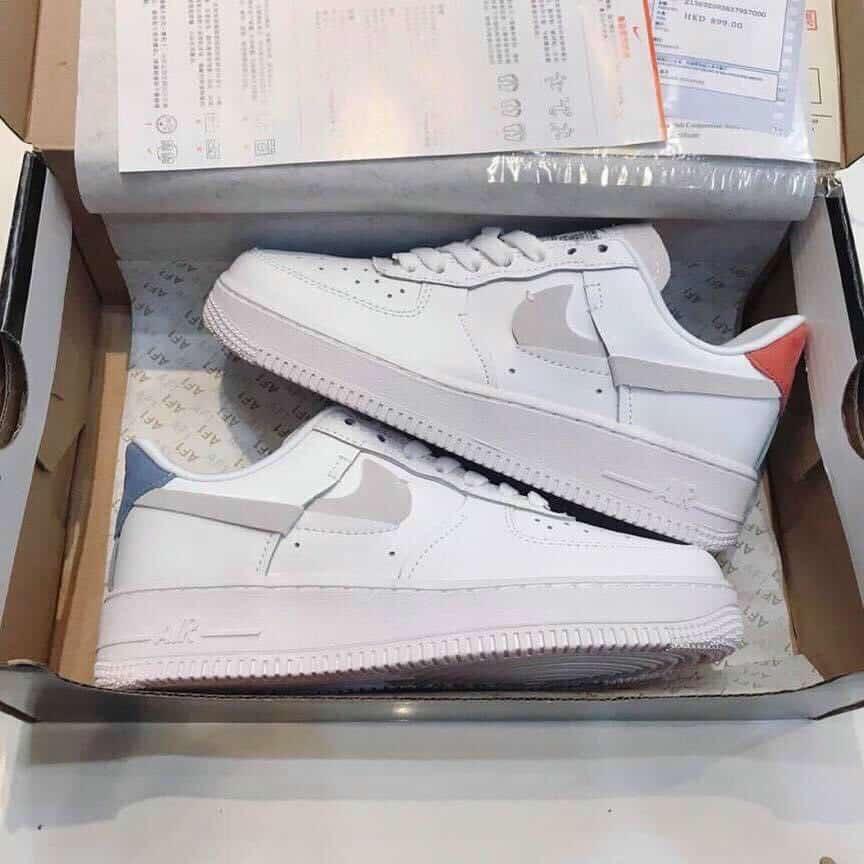 Giày Nike Air Force 1 Đỏ Xanh rep 1:1 mang phong cách trẻ trung, năng động