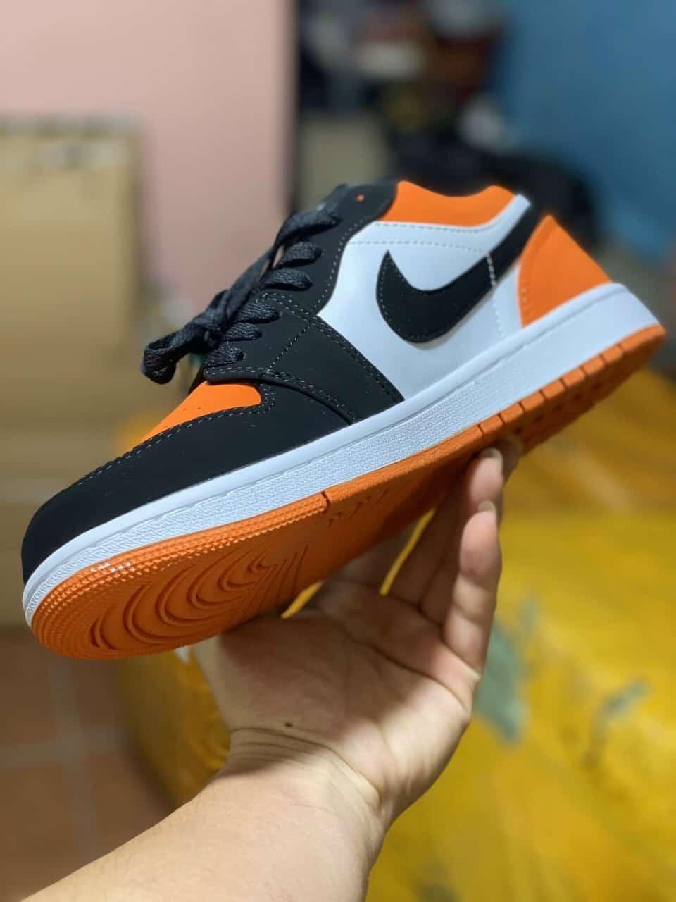 Giày Jordan 1 Low Cam rep 1:1 bền bỉ, mua một lần dùng lâu dài