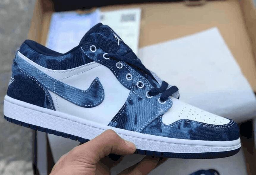 Giày Jordan 1 Low Loang Xanh rep 1:1 có thiết kế độc đáo và năng động