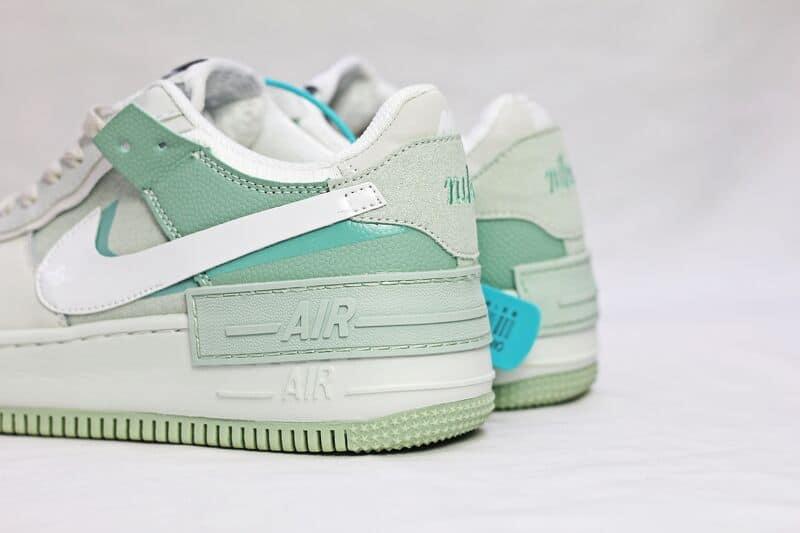 Hình ảnh thực đế đôi Bata Nike Air Force 1 Xanh Lá replica