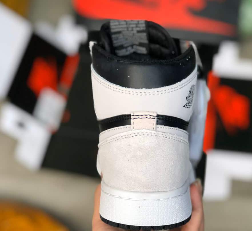 Giày Jordan 1 High Xám Đen rep 1:1 có đế cao 3cm
