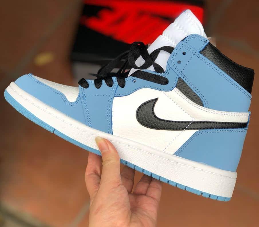 Giày Jordan 1 High Unc rep 1:1 có màu xanh tươi mới