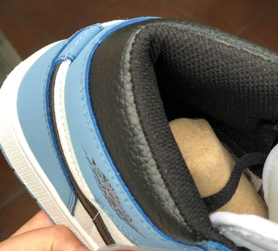 Giày Jordan 1 High Unc rep 1:1 có phần đệm gót dày dặn