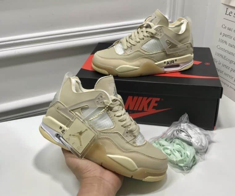 Giày Jordan 4 Off White rep 1:1 với tone màu basic, dễ sử dụng nên rất được giới trẻ săn đón