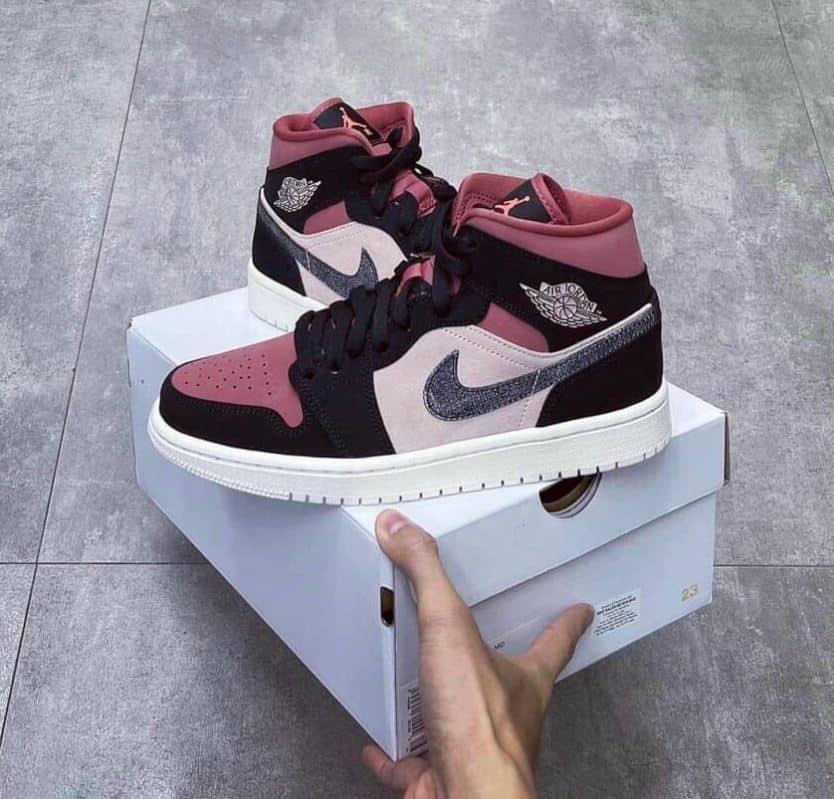 Giày Jordan 1 High Đỏ Mận rep 1:1 có thiết kế đẹp, tổng thể hài hòa