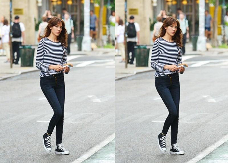 Quần jean phối đồ với giày Converse cổ cao nữ đơn giản, nhẹ nhàng