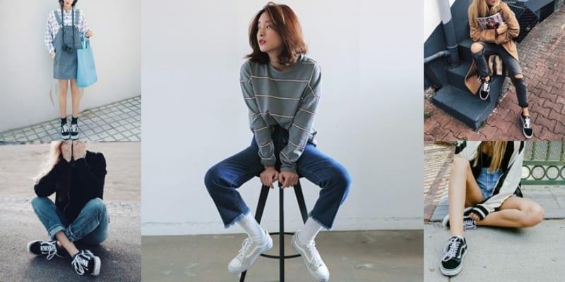 Phối giày Vans nữ với quần jeans tạo nét đẹp năng động trẻ trung cho các bạn nữ
