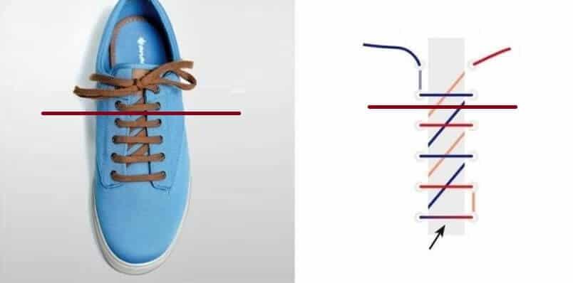 Cách thắt giày kiểu răng cưa