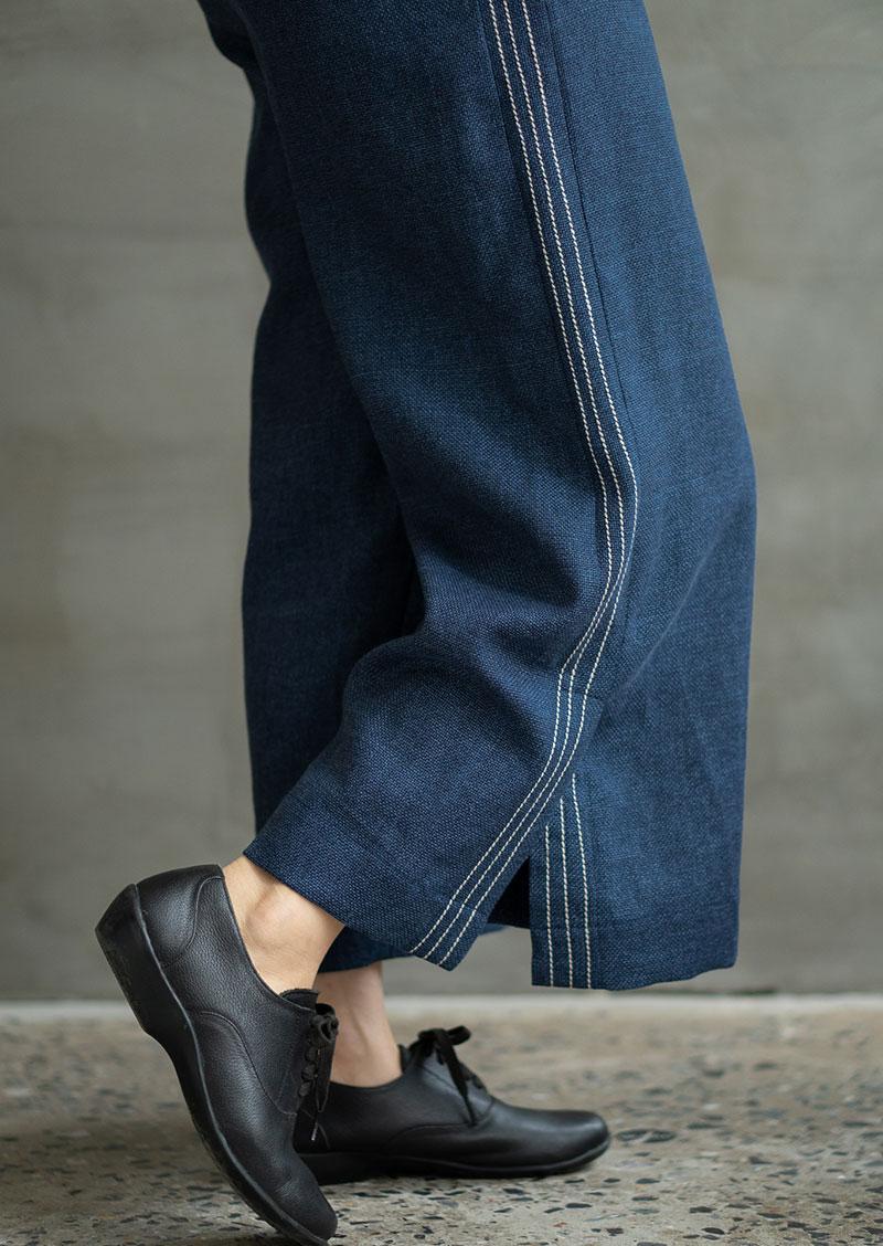 Mang giày oxford với quần ống rộng
