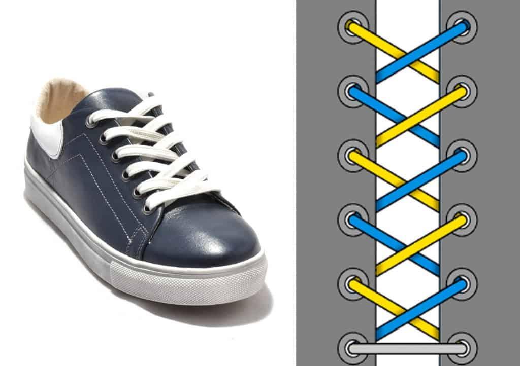 Thắt dây giày kiểu Criss-Cross