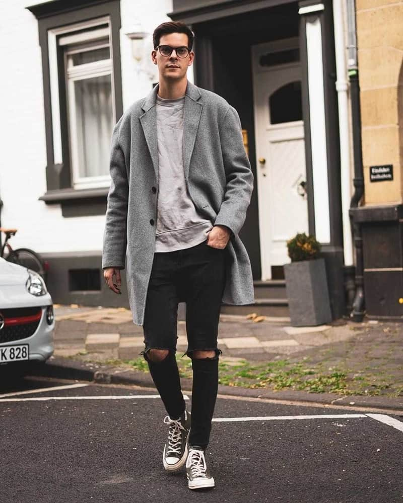 Phối đồ với giày converse nam cùng áo thun và jean giúp bạn tự tin xuống phố