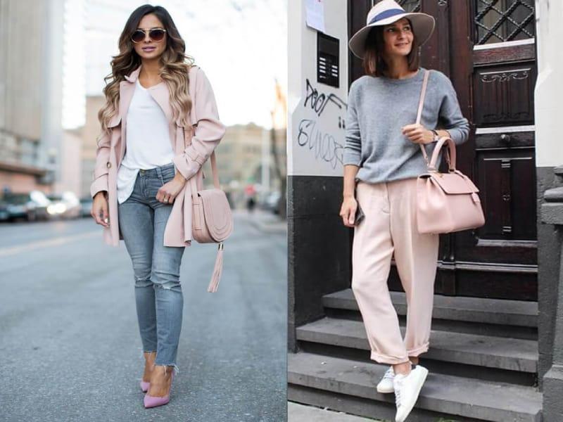 Kết hợp giày màu hồng cùng áo khoác ngoài là lựa chọn hàng đầu