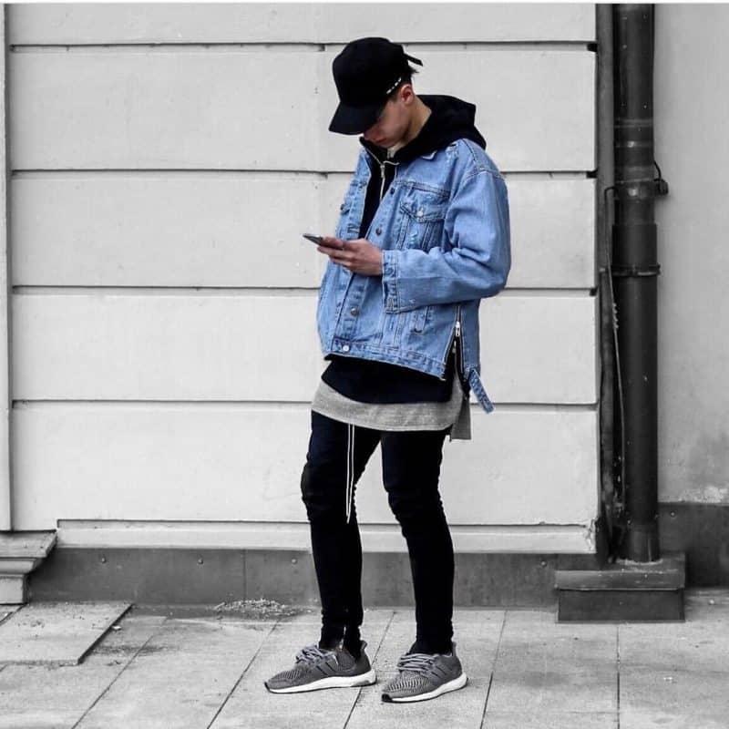 Phối đồ Layer nhiều lớp với giày Adidas nam phù hợp phong cách swearwear