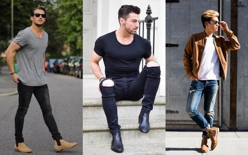 Phối quần jean với boot nam đem đến cảm giác mạnh mẽ, thu hút