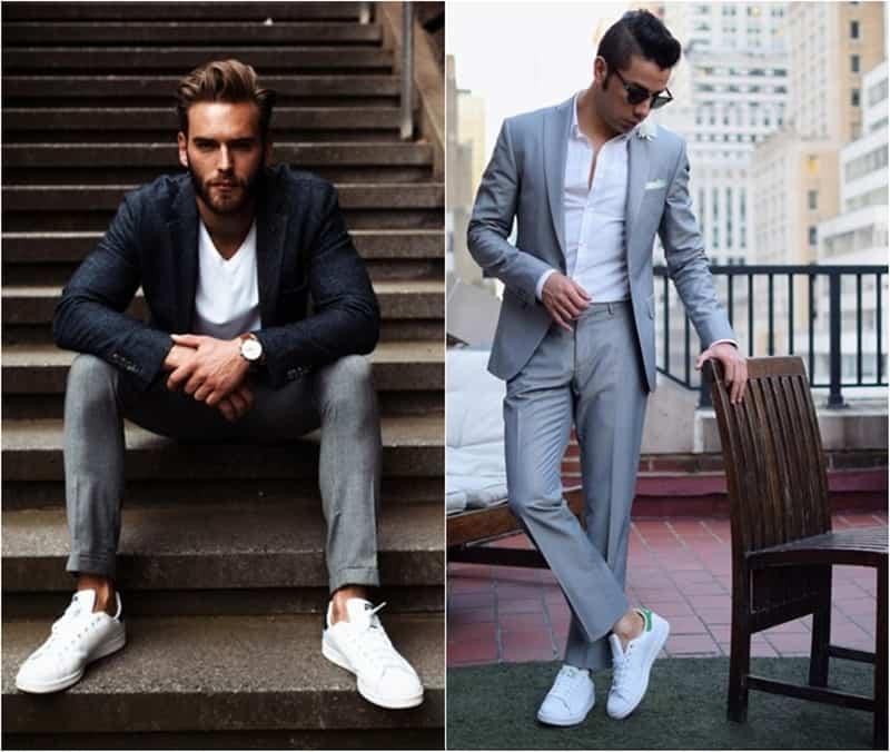 Phối đồ vest với giày sneaker khiến bạn trông lịch lãm,cá tính hơn