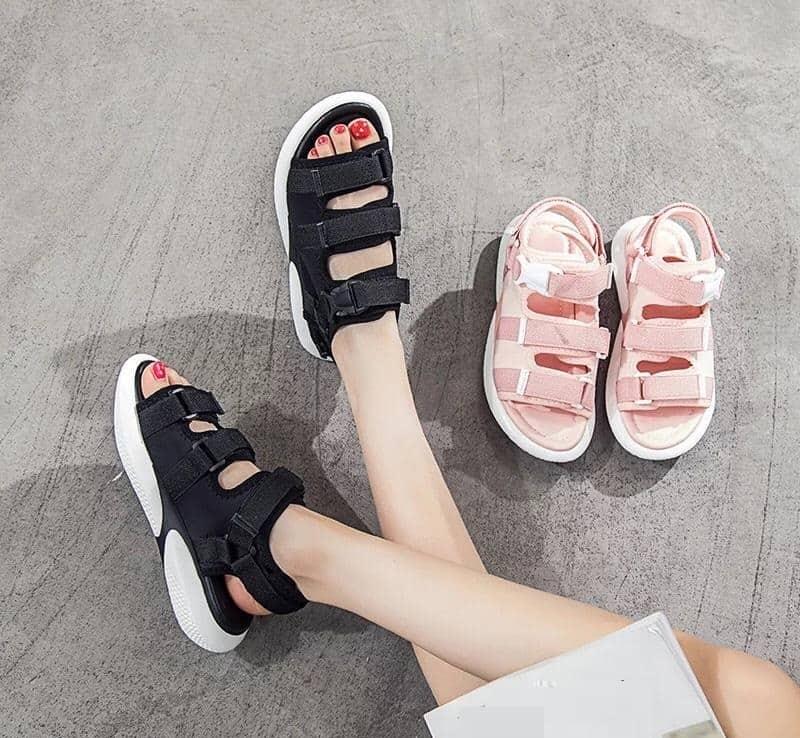 Giày đi học nữ cấp 2 sandal 3 quai