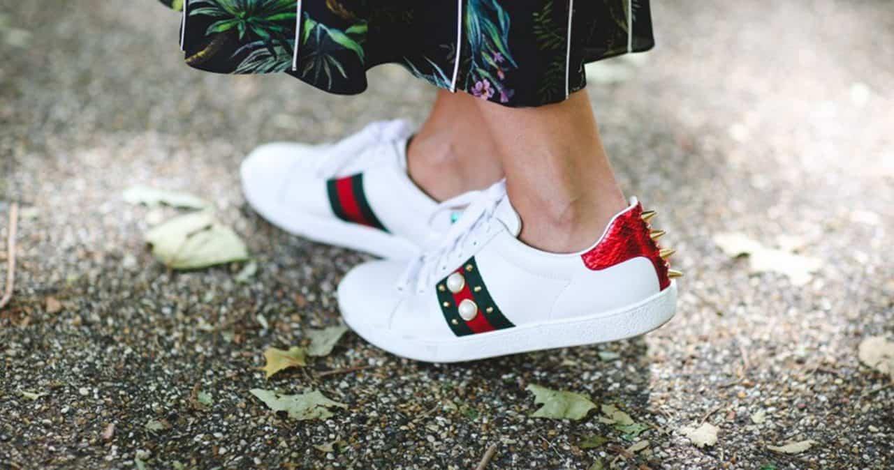 Mẫu giày sneaker Gucci là sản phẩm được nhiều nghệ sĩ lựa chọn
