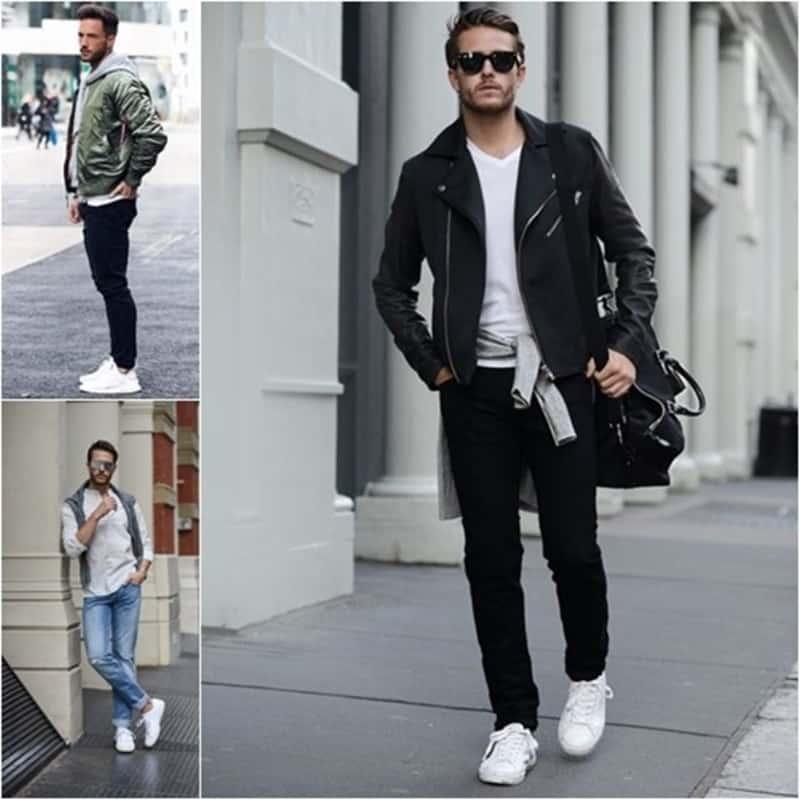 Những ngày thu đông thì việc phối đồ với giày trắng cùng layer là cực kỳ thích hợp