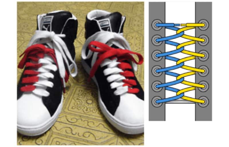 Kết hợp hai màu giày sẽ khiến đôi giày của bạn nổi bật hơn