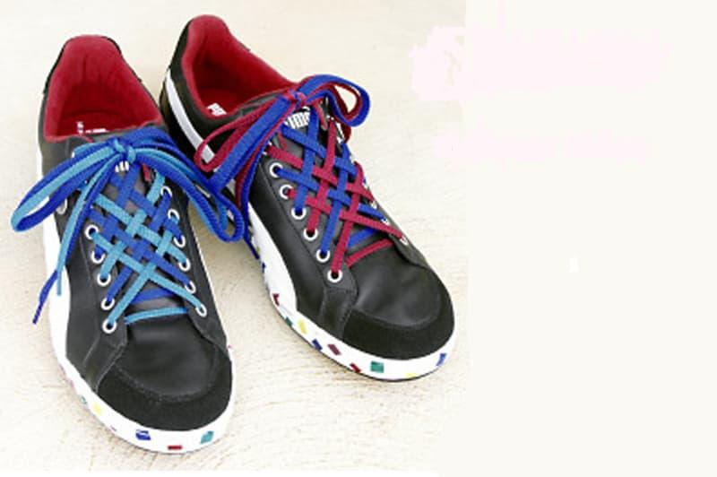 Cách buộc dây giày kiểu 2 tầng là một trong những kiểu thắt dây giày đẹp nhất