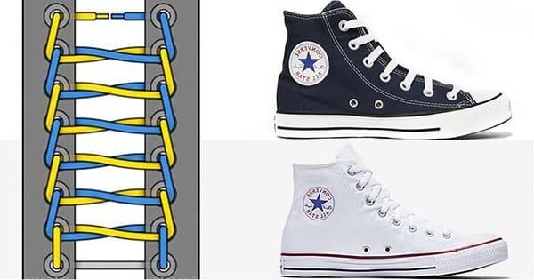 Cách buộc dây giày Converse cao cổ