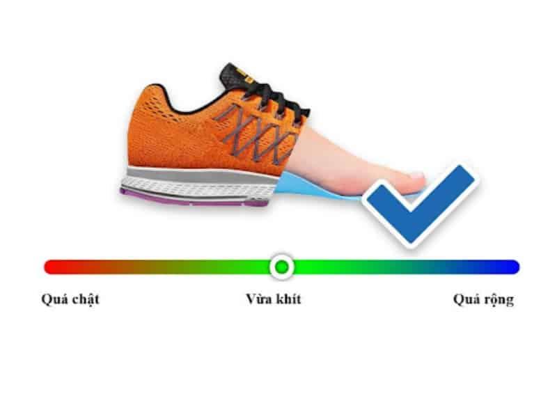 Lựa chọn size giày phù hợp giúp người đi cảm giác thoải mái, tự tin