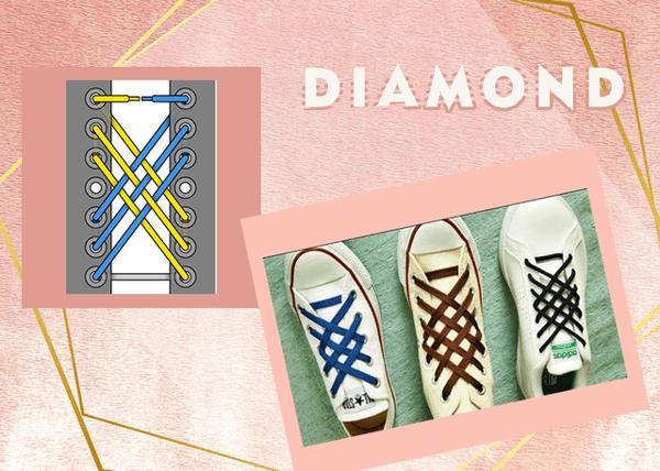 Cận cảnh cách thắt dây giày 5 lỗ kim cương