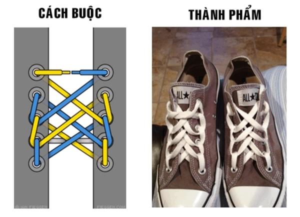 Mê mẩn với cách buộc dây giày 5 lỗ mạng nhện