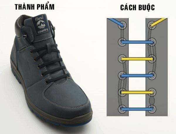 Cách buộc dây giày 5 lỗ hàng ngang được ứng dụng rộng rãi