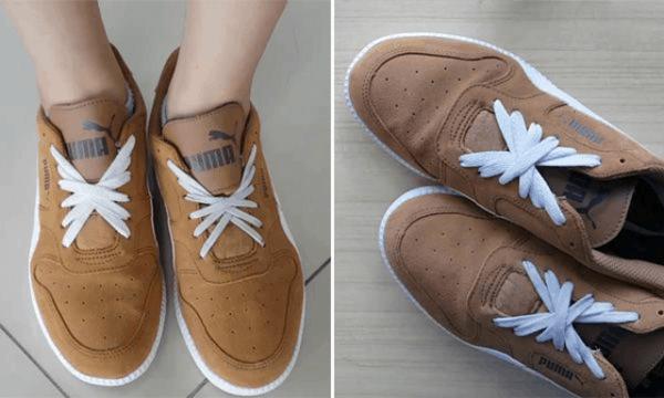 Kiểu thắt dây giày 5 lỗ cánh bướm phù hợp với các bạn nữ
