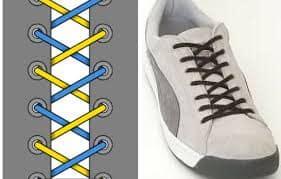 Cách buộc dây giày giấu nút thắt khá đơn giản