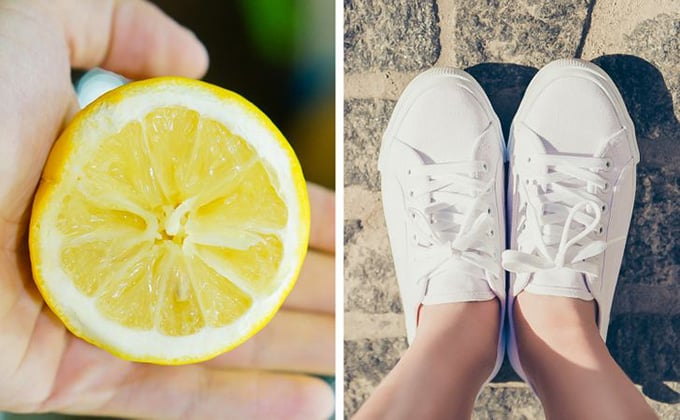 Tẩy giày trắng bằng chanh tươi