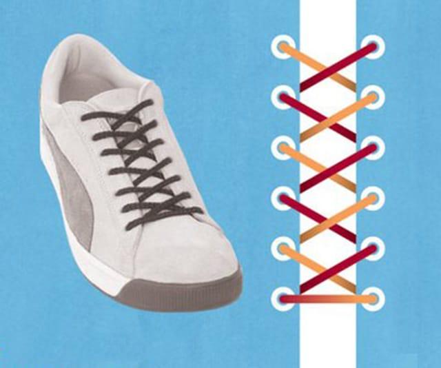 Cách xử lý dây giày quá dài bằng cách đan Display phù hợp với đối tượng teen