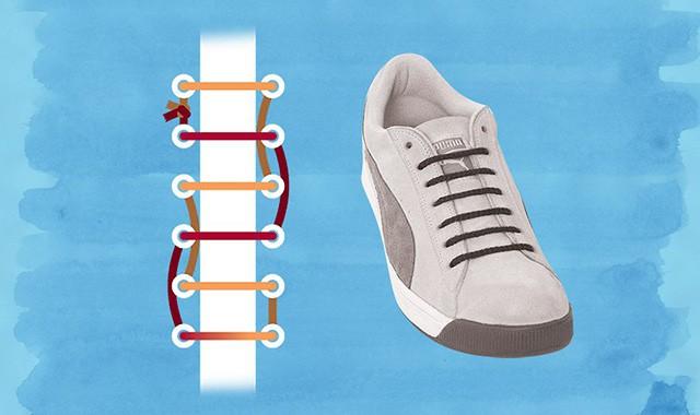 Xử lý dây giày nhanh chóng bằng cách buộc hình thang