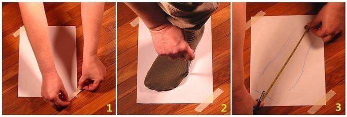 Các bước đo chiều dài chân xác định size giày