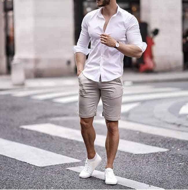 Phối đồ với giày trắng nam nhất định không thể bỏ qua quần short