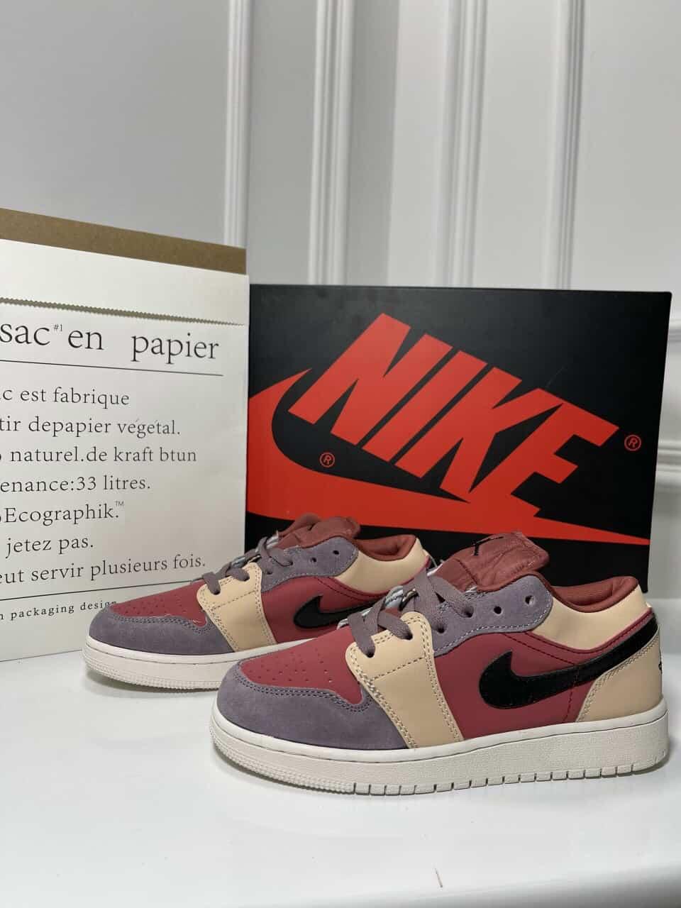 Giày Nike Air Jordan 1 Low Đỏ Mận rep 1:1