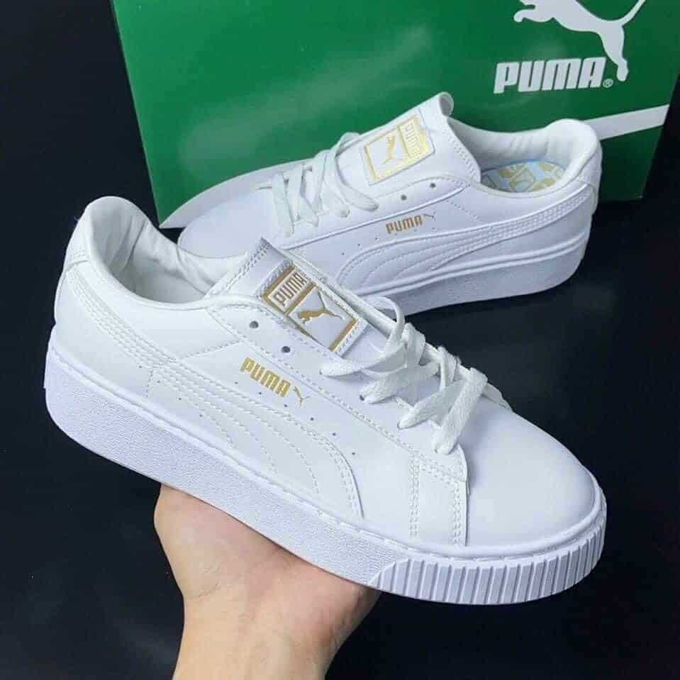 Giày Puma trắng vàng