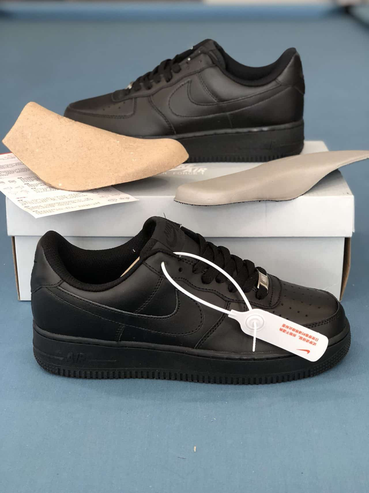 Giày thể thao nam Nike Air Force 1 Full đen Rep 1:1