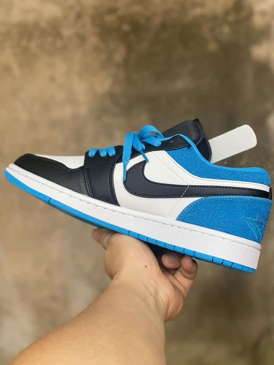 Giày jordan 1 low xanh rep 1:1