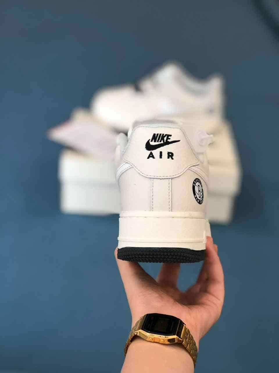 Mẫu giày Nike Air Force 1 Be Sữa rep 1:1 có thiết kế Logo Swoosh độc đáo