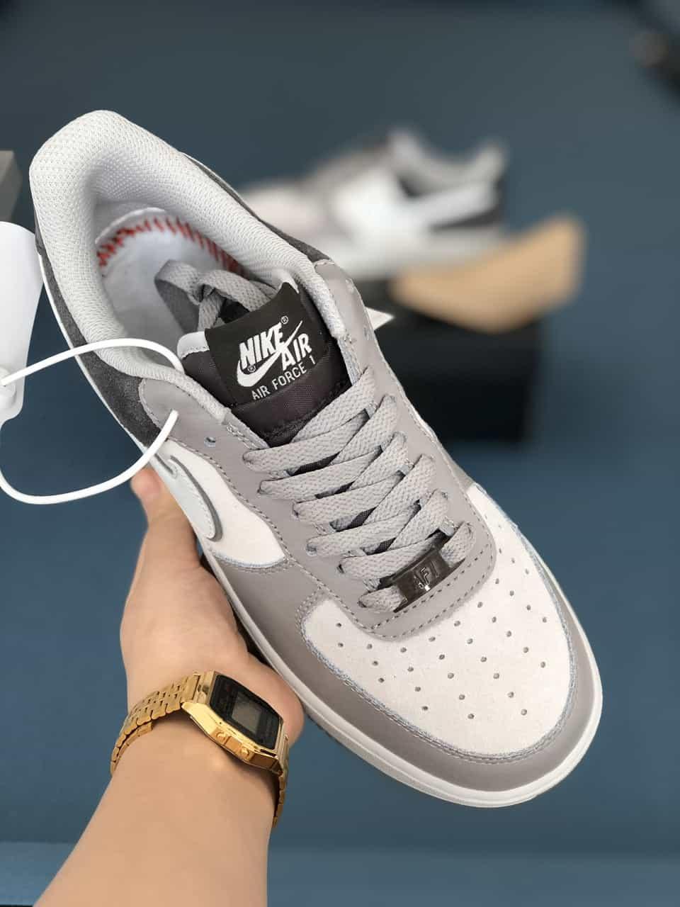 Giày Nike Air Force 1 Xám Đen rep 1:1 là 1 trong những phiên bản mới của Nike vừa ra mắt