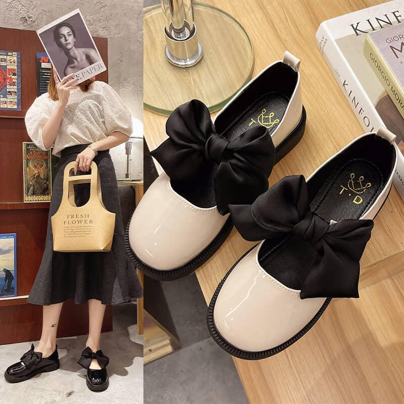 Giày mary jane buộc nơ với thiết kế mới mẻ sẽ trở thành điểm nhấn cho bộ đồ của bạn