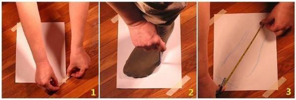 Phác họa bàn chân để có được kích thước chuẩn nhất