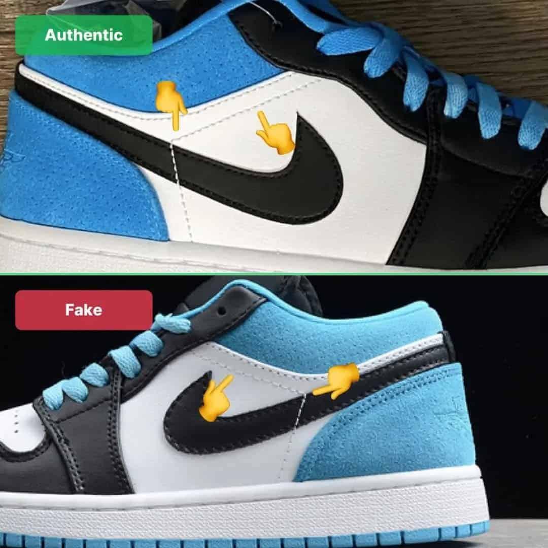 Sự khác nhau về đường khâu chéo trên giày