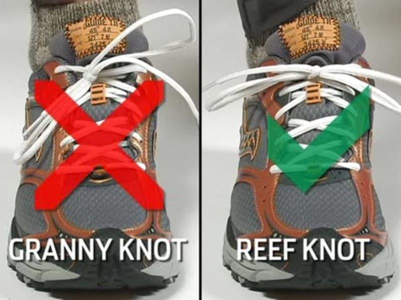 Cách kiểm tra thắt giày hình nơ đúng kỹ thuật hay không?