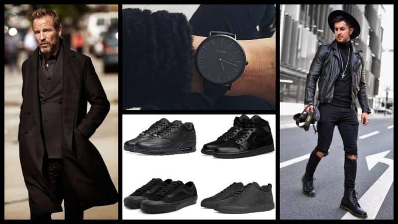 Phối đồ với giày đen luôn là sự lựa chọn an toàn cho các chàng trai