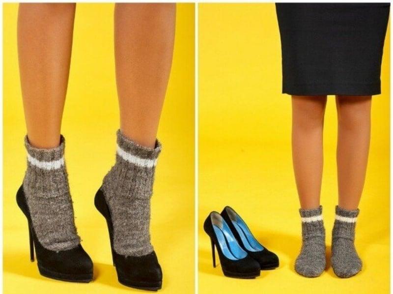 Dễ dàng giảm bị đau mũi chân khi đi giày với tất dày và máy sấy